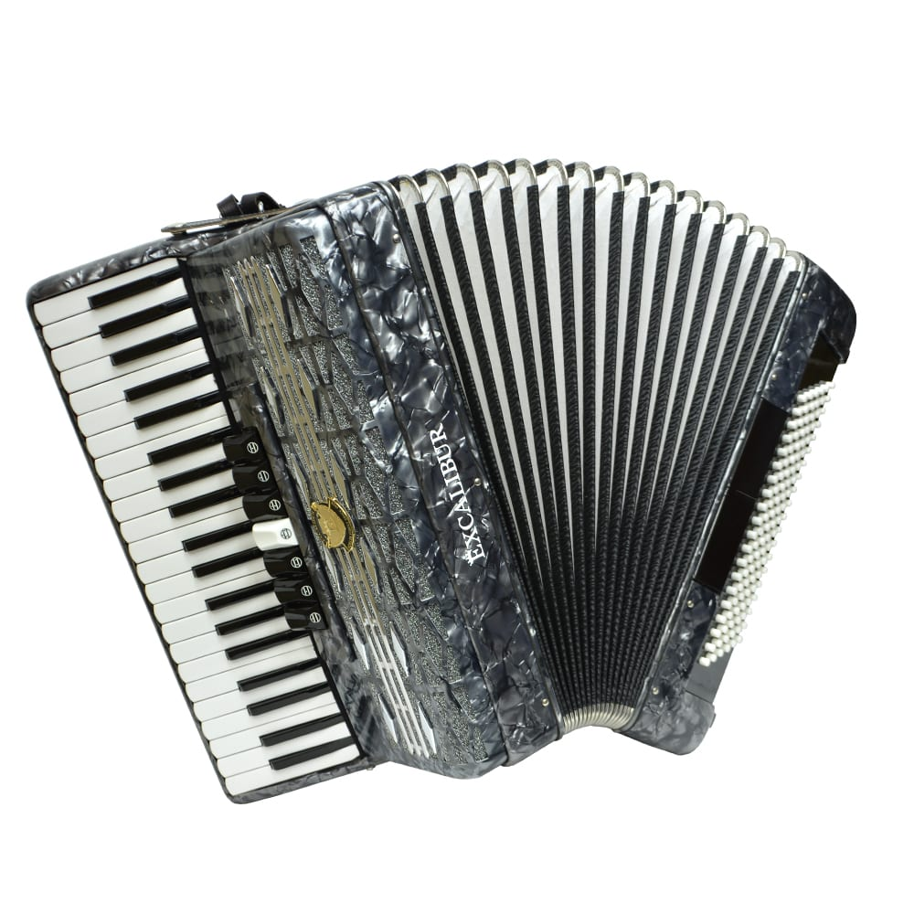 Excalibur Super Classic 120 Bass Accordion - Grey