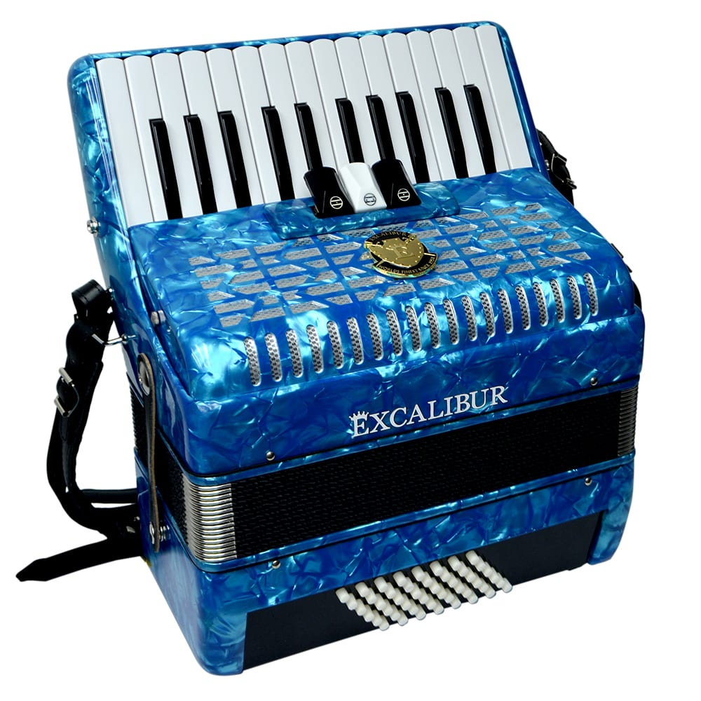 Excalibur Frankfurt 48 Bass Ultralight Accordion - Light Blue