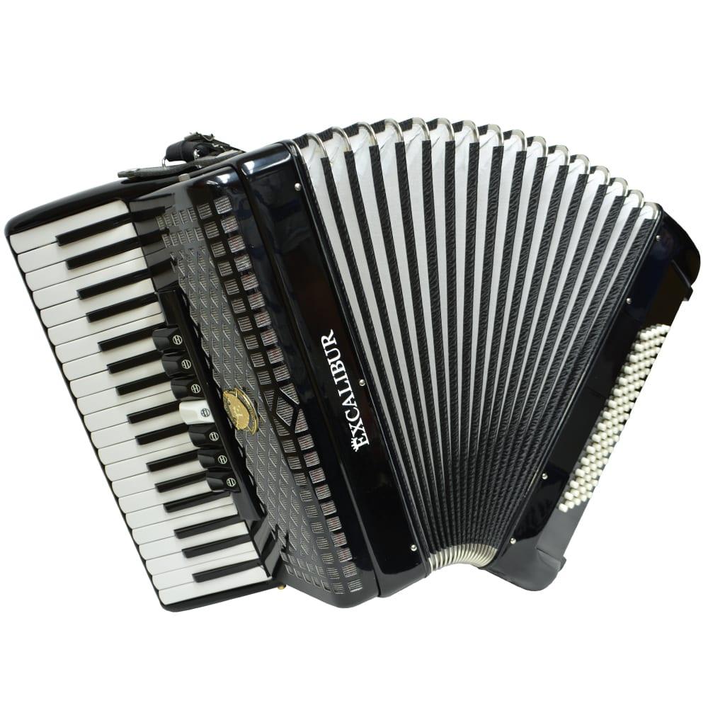 Excalibur Super Classic 60 Bass Piano Accordion - Black