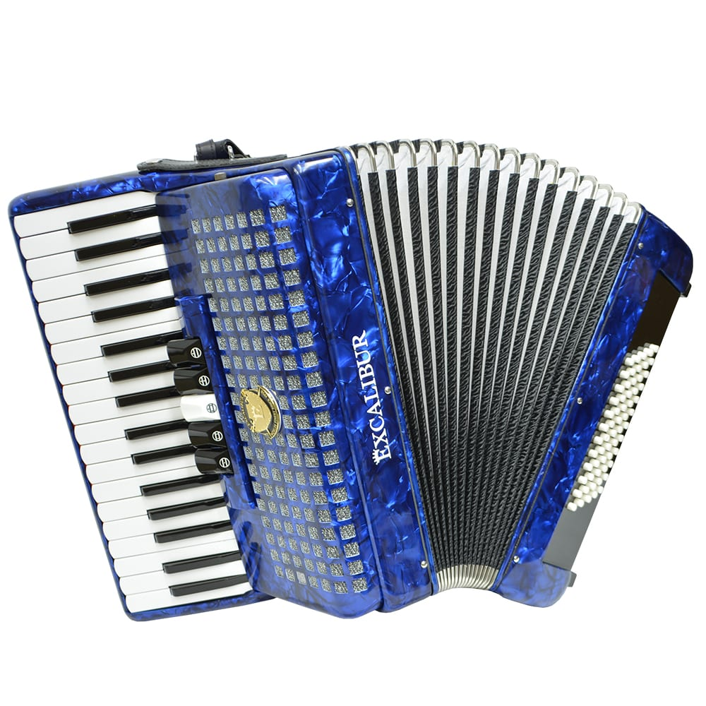 Excalibur Super Classic 60 Bass Accordion - Dark Blue