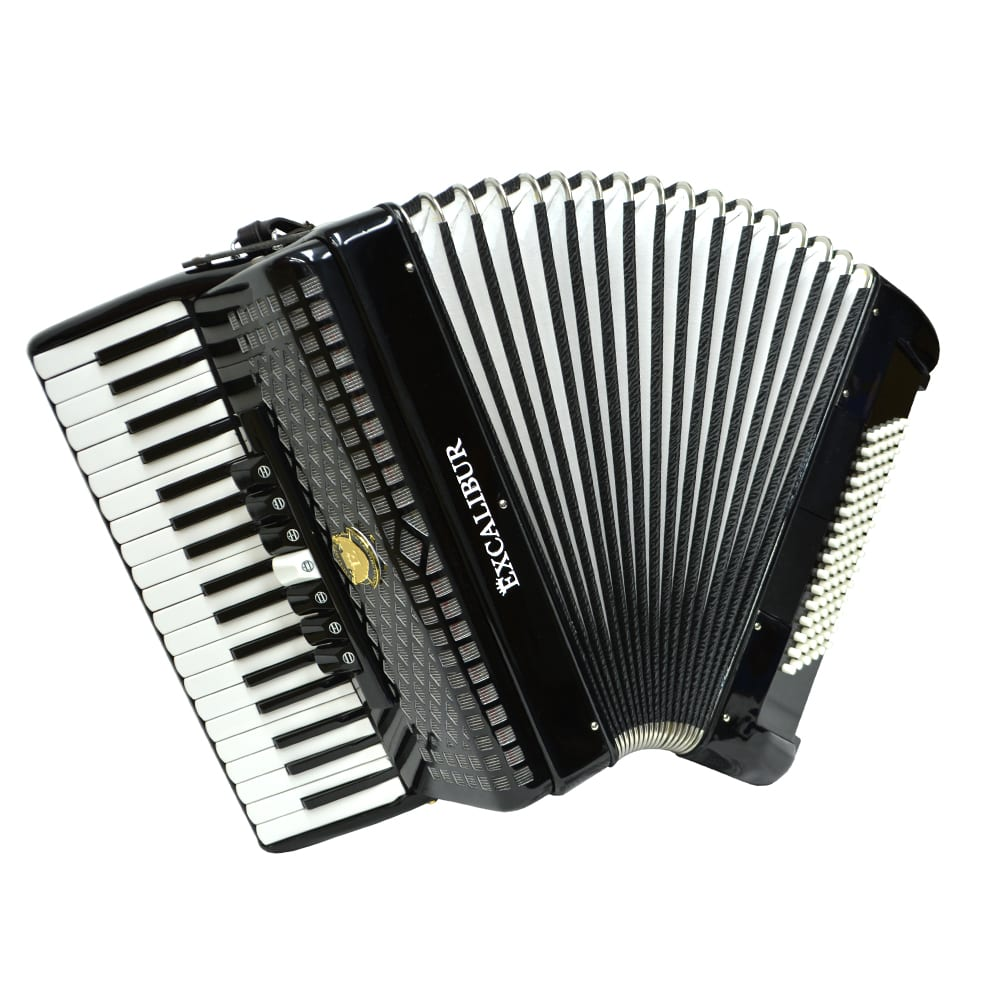 Excelibur Weltbesten 72 Bass Piano Accordion - Ebony Polish
