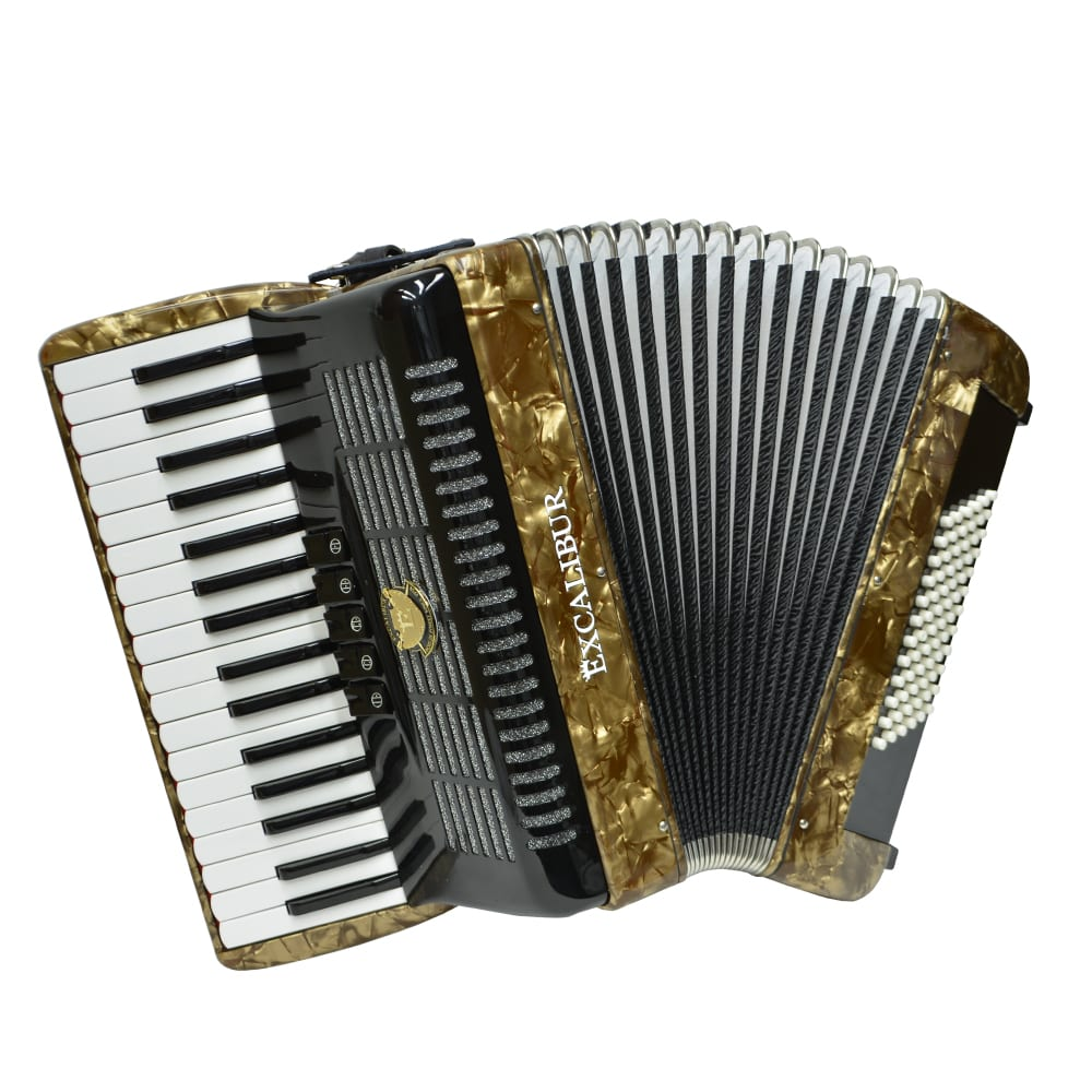 Excalibur German Weltbesten UltraLite 72 Bass Piano Accordion - Vintage Gold