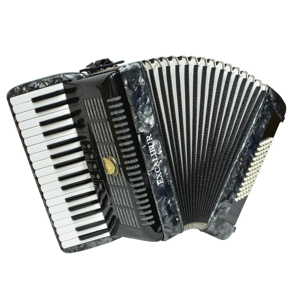 Excalibur German Weltbesten UltraLite 72 Bass Piano Accordion - Grey
