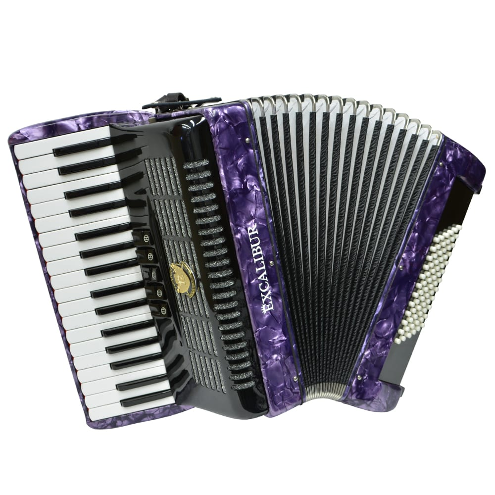 Excalibur German Weltbesten UltraLite 72 Bass Piano Accordion - Purple