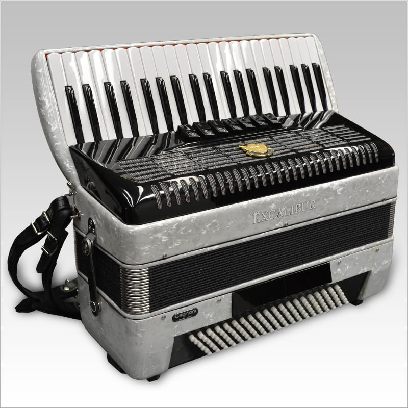 Excalibur German Weltbesten UltraLite 120 Bass Piano Accordion - Pearl White