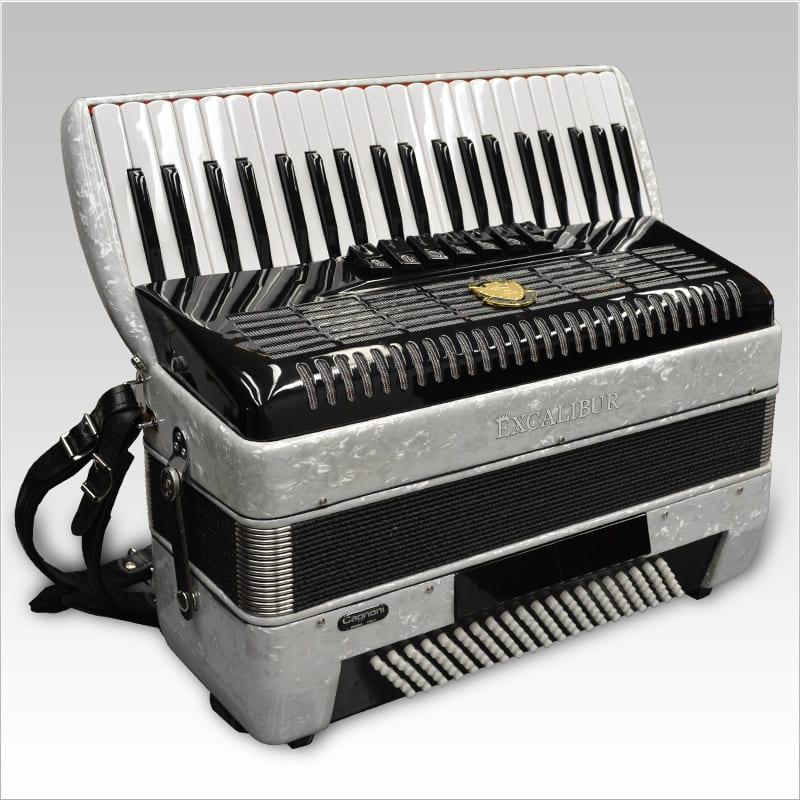 Excalibur German Weltbesten UltraLite 120 Bass Piano Accordion - Pearl White