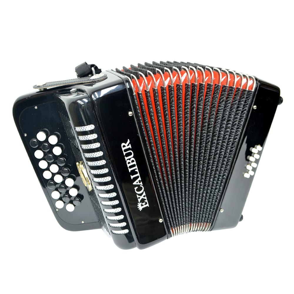 Excalibur Weltbestin 22 Key Chromatic Accordion - Black