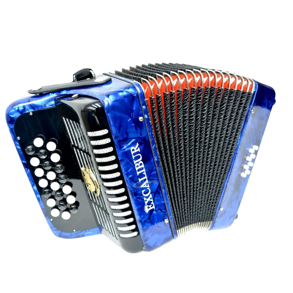 Excalibur Weltbestin 22 Key Chromatic Accordion - Light Blue
