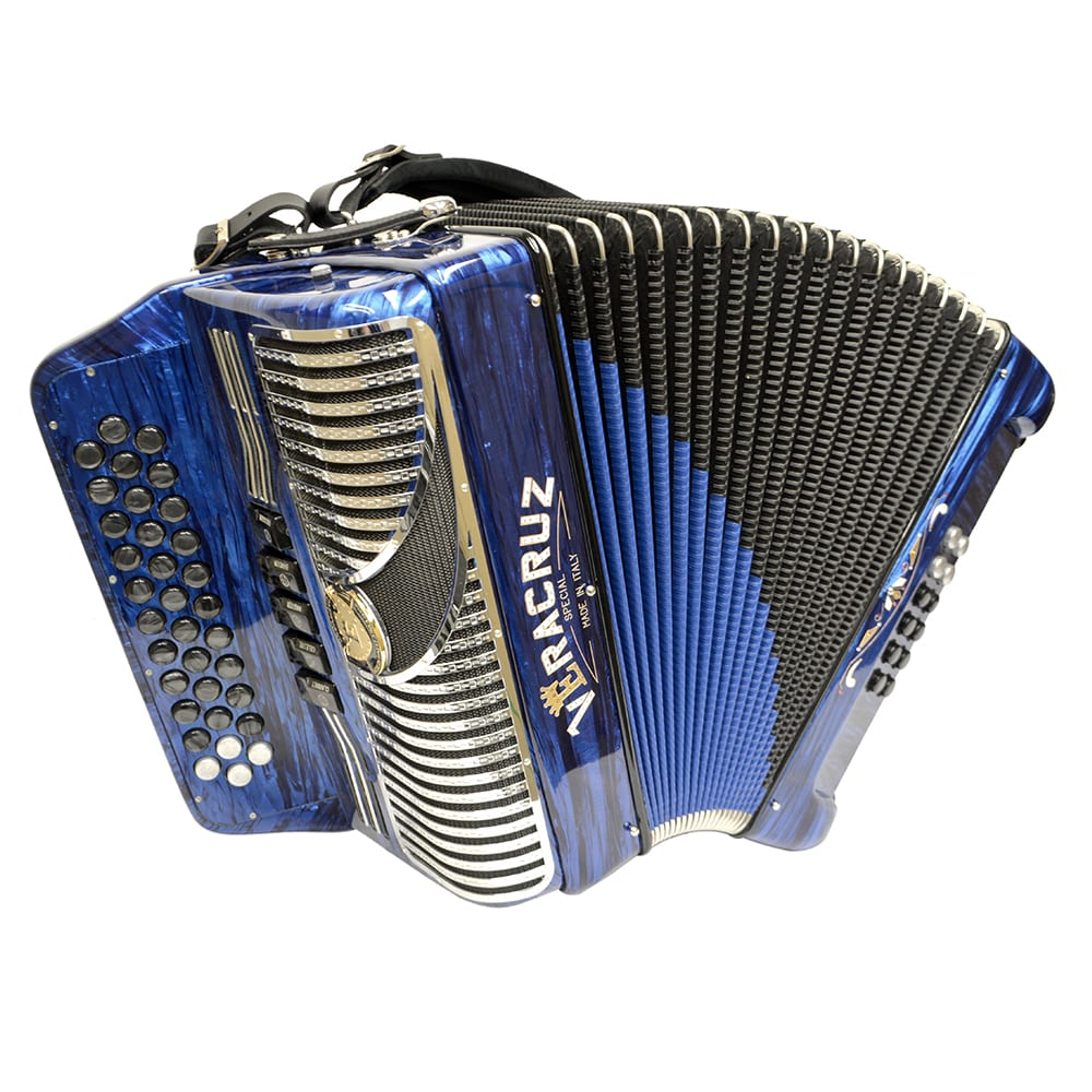 Excalibur Veracruz 5 Switch Button Accordion - Blue