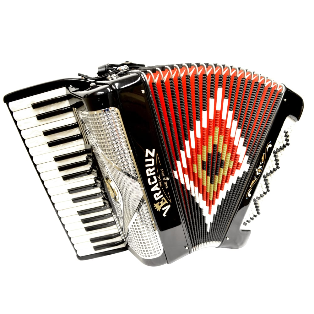 Excalibur Veracruz 80 Bass Piano Accordion - Black & Chrome
