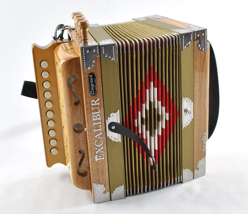 Excalibur North American Series Cajun Acadia Button Accordion