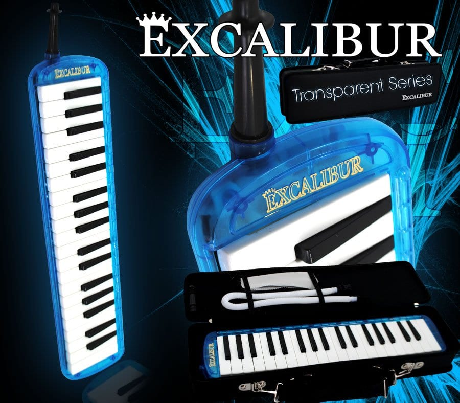 Excalibur Melodica - Transparent Series (Ocean Blue)