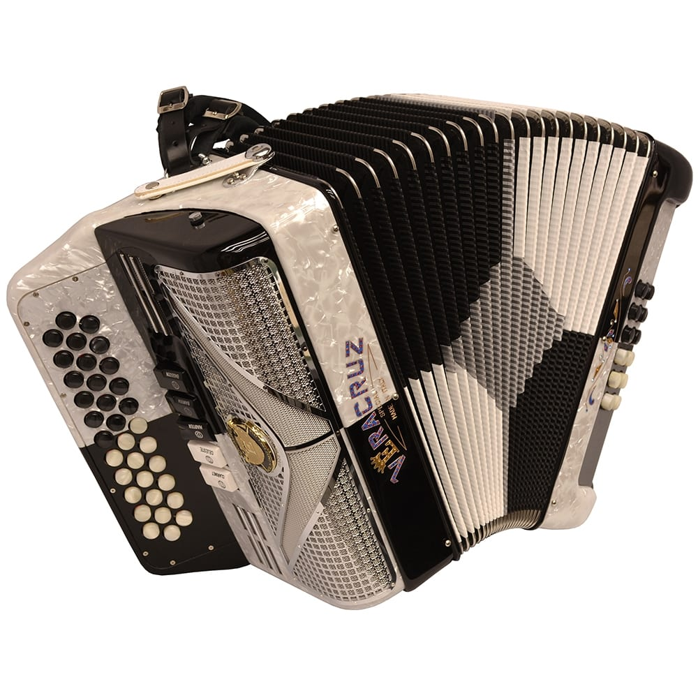 Excalibur Veracruz Special Edition 5 Switch Button Accordion Black Checker