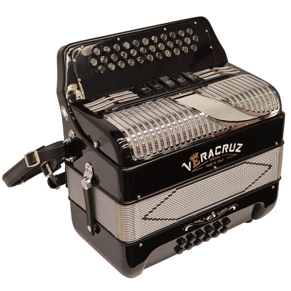 Excalibur Veracruz 5 Switch Button Accordion - Black & Grey