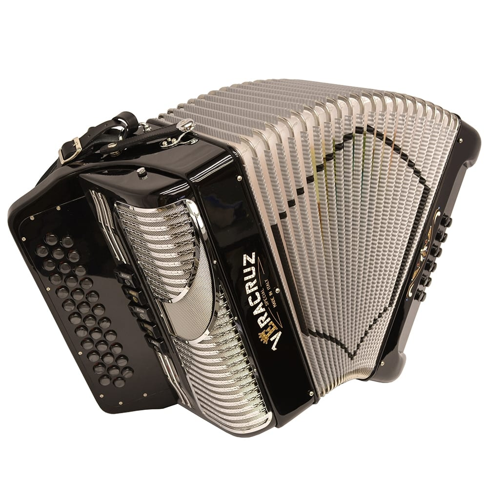 Excalibur Veracruz Special Italy Edition 5 Switch Button Accordion - Black/Gray