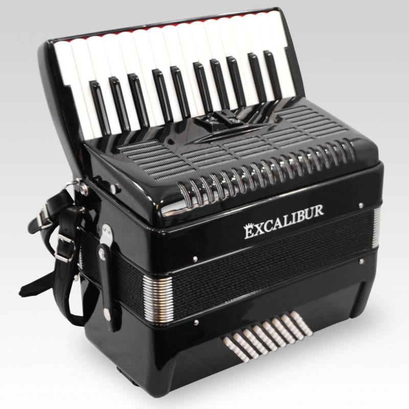 Excalibur German Weltbesten UltraLite 48 Bass Piano Accordion - Ebony Polish