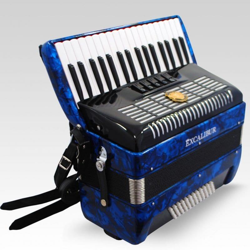 Excalibur German Weltbesten UltraLite 72 Bass Piano Accordion - Pearl Blue