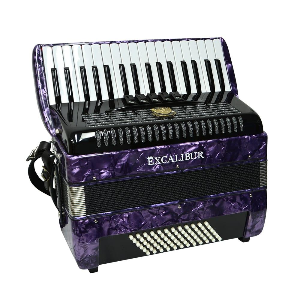 Excalibur German Weltbesten UltraLite 72 Bass Piano Accordion - Purple