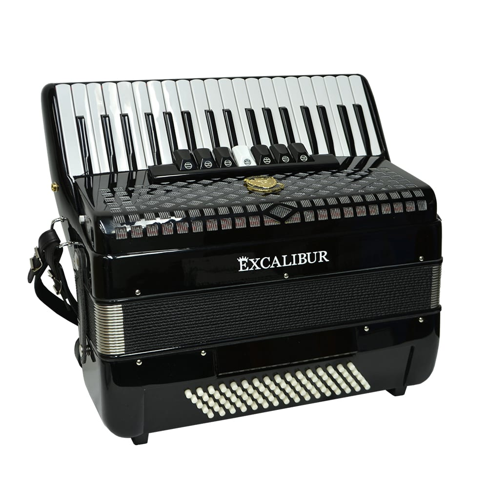 Excalibur Super Classic 80 Bass Piano Accordion - Black