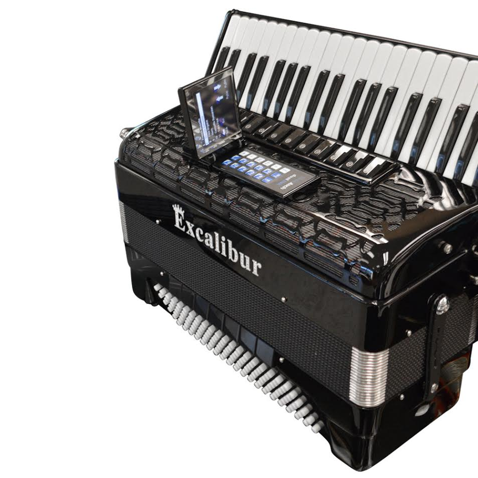 Excalibur Crown Series ELX Real Digital Accordion - Triple Mussette