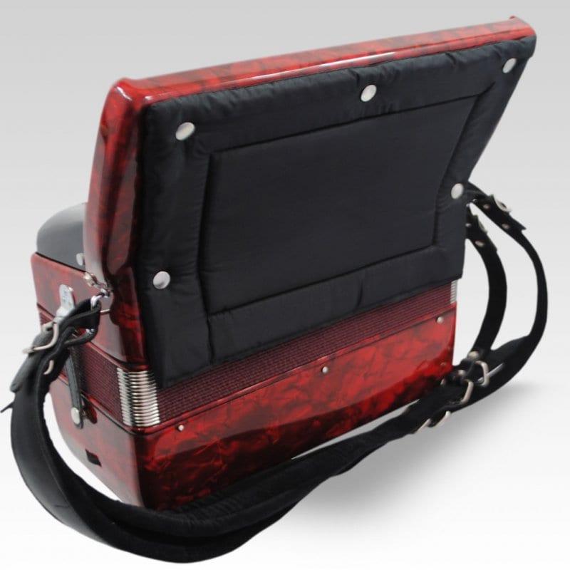 Excalibur German Weltbesten UltraLite 60 Bass Piano Accordion - Pearl Red