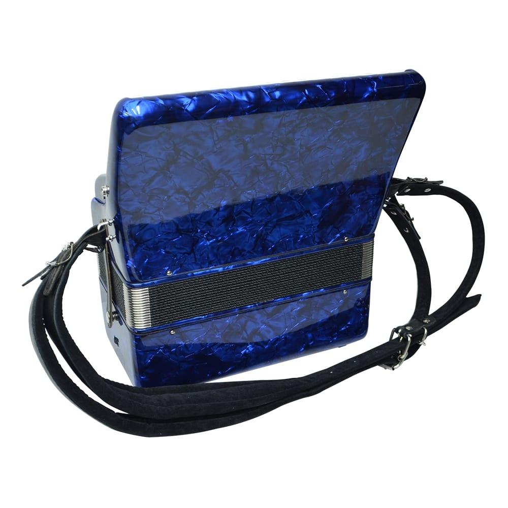 Excalibur Frankfurt 48 Bass Ultralight Accordion - Pearl Dark Blue