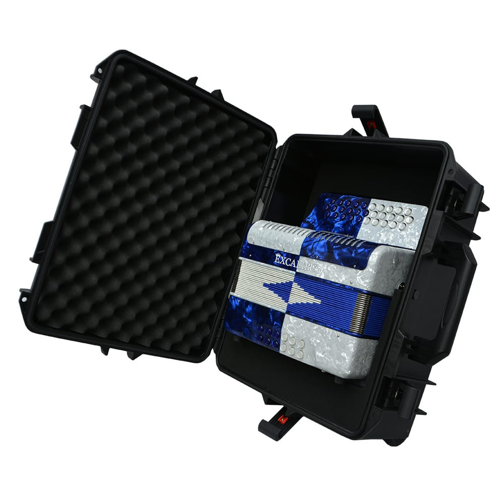 Excalibur Super Classic PSI 3 Row - Button Accordion - Blue/White -  Key of FBE
