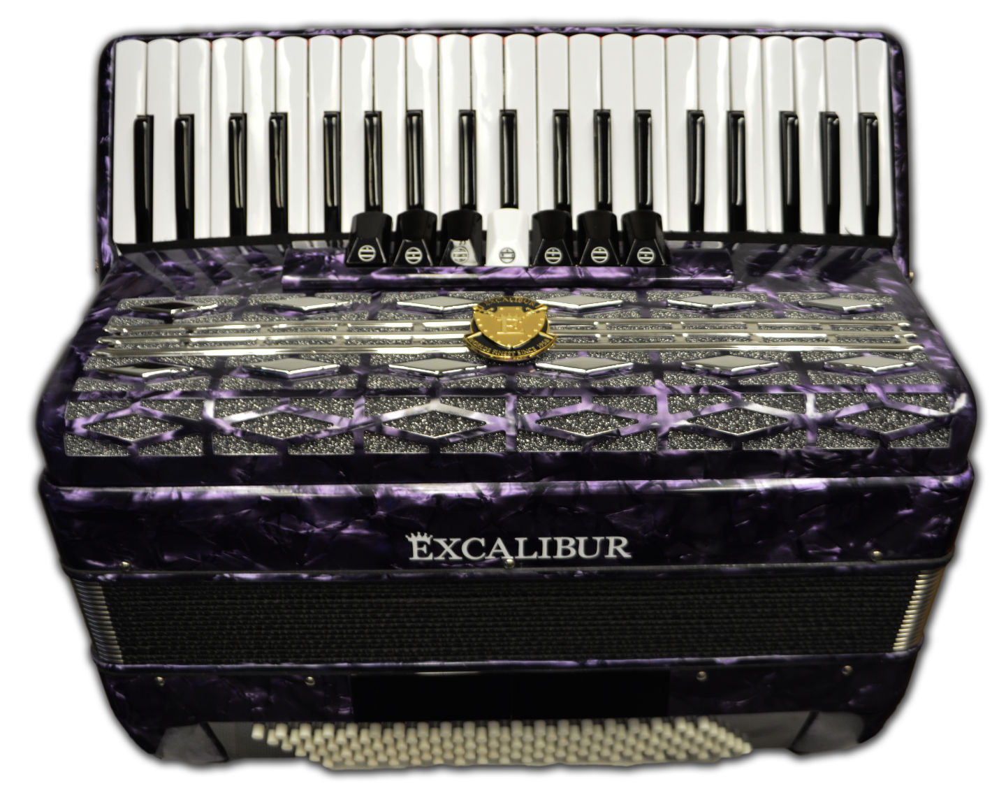 Excalibur Super Classic 120 Bass Accordion - Purple