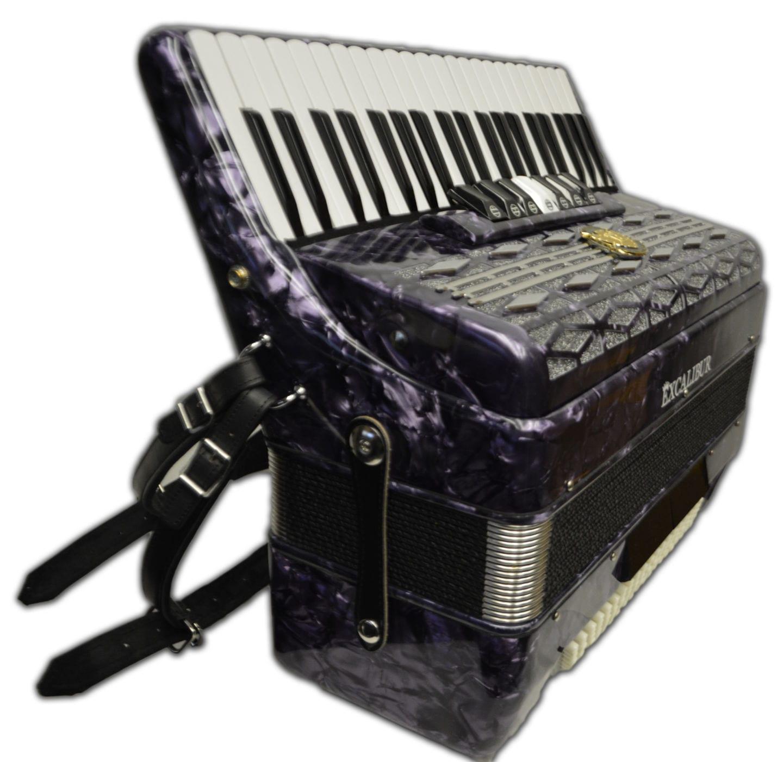 Excalibur Super Classic 120 Bass Accordion - Purple