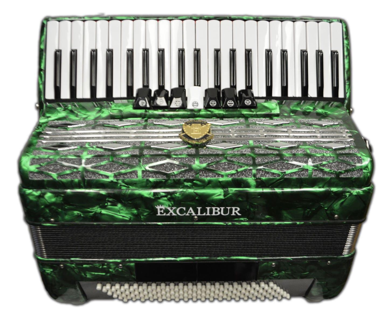 Excalibur Super Classic 120 Bass Accordion - Green