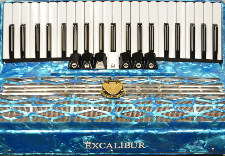 Excalibur Super Classic 120 Bass Accordion - Light Blue