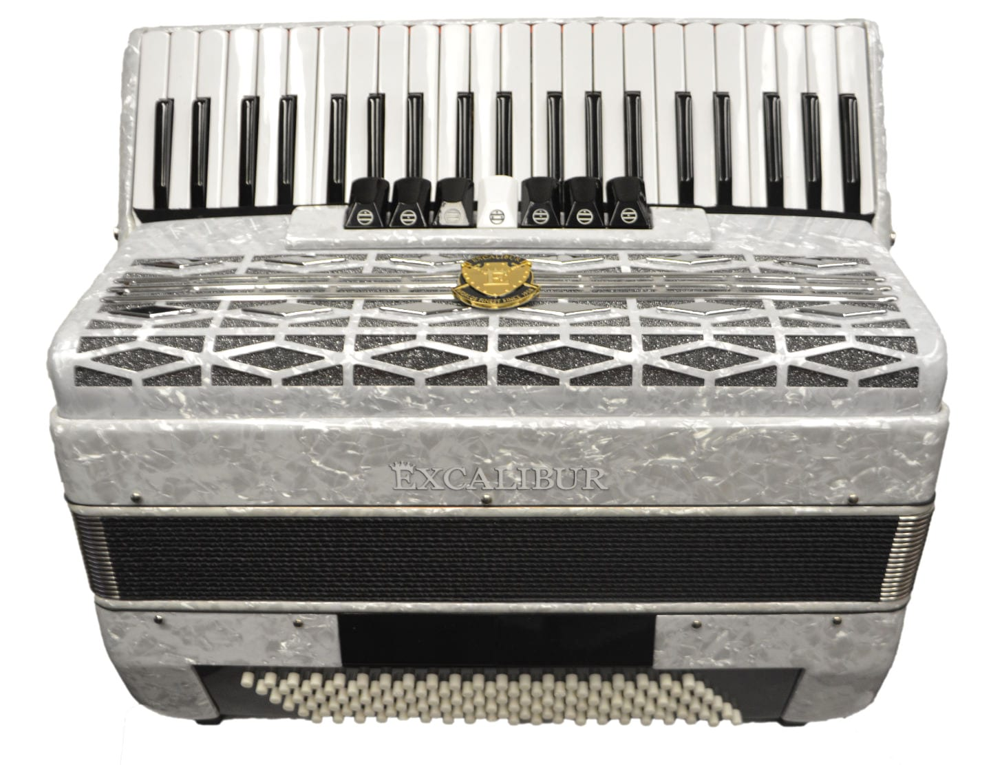 Excalibur Super Classic 120 Bass Accordion - White