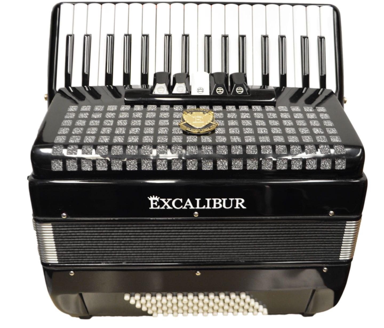 Excalibur Super Classic 72 Bass Accordion - Black