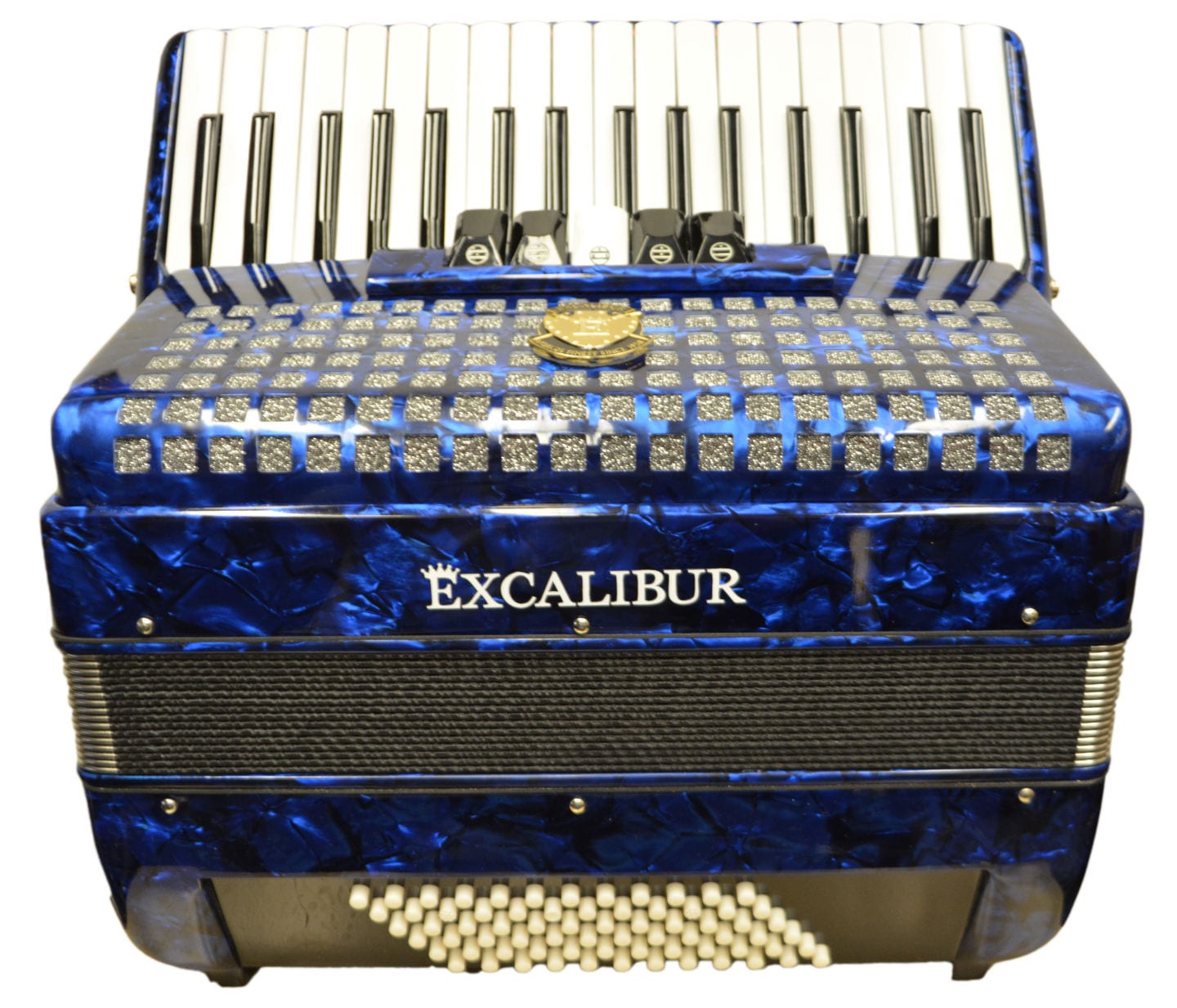 Excalibur Super Classic 72 Bass Piano Accordion Dark Blue