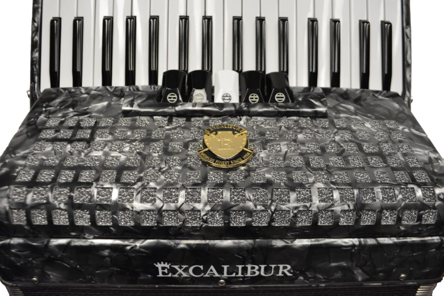 Excalibur Super Classic 72 Bass Accordion - Dark Grey