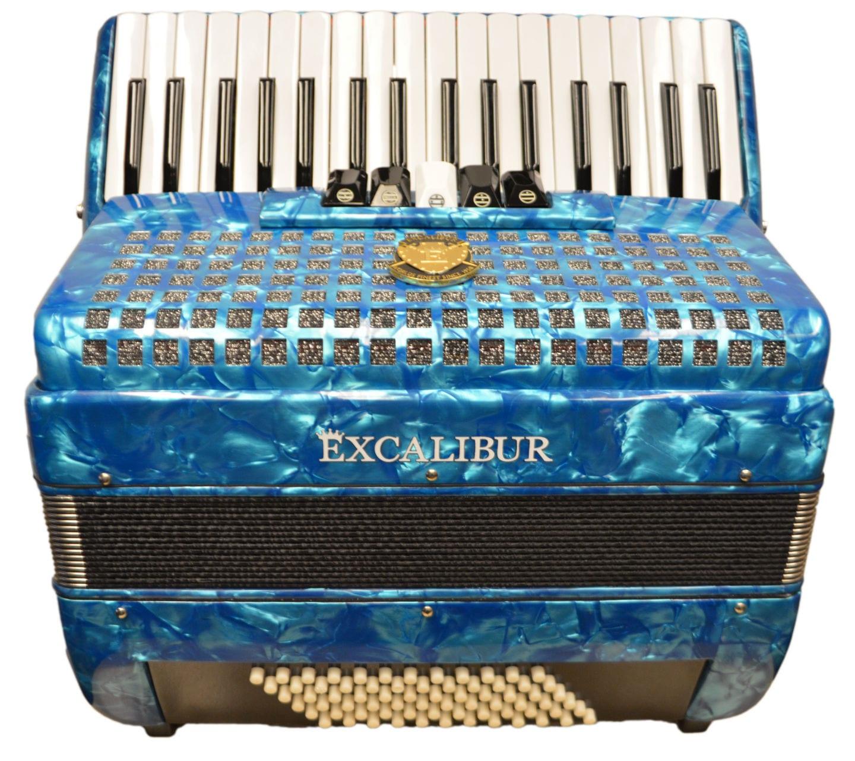 Excalibur Super Classic 72 Bass Accordion - Light Blue