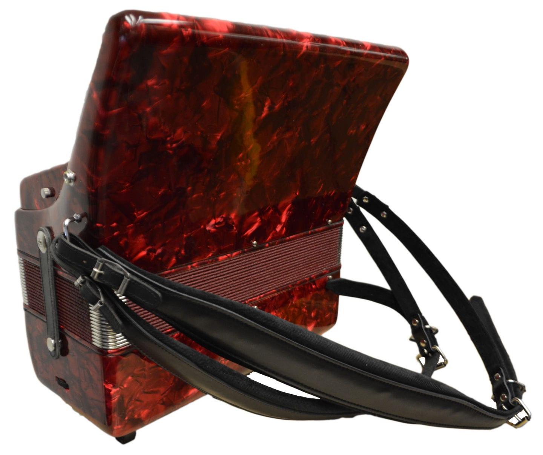 Excalibur Super Classic 72 Bass Accordion - Dark Red