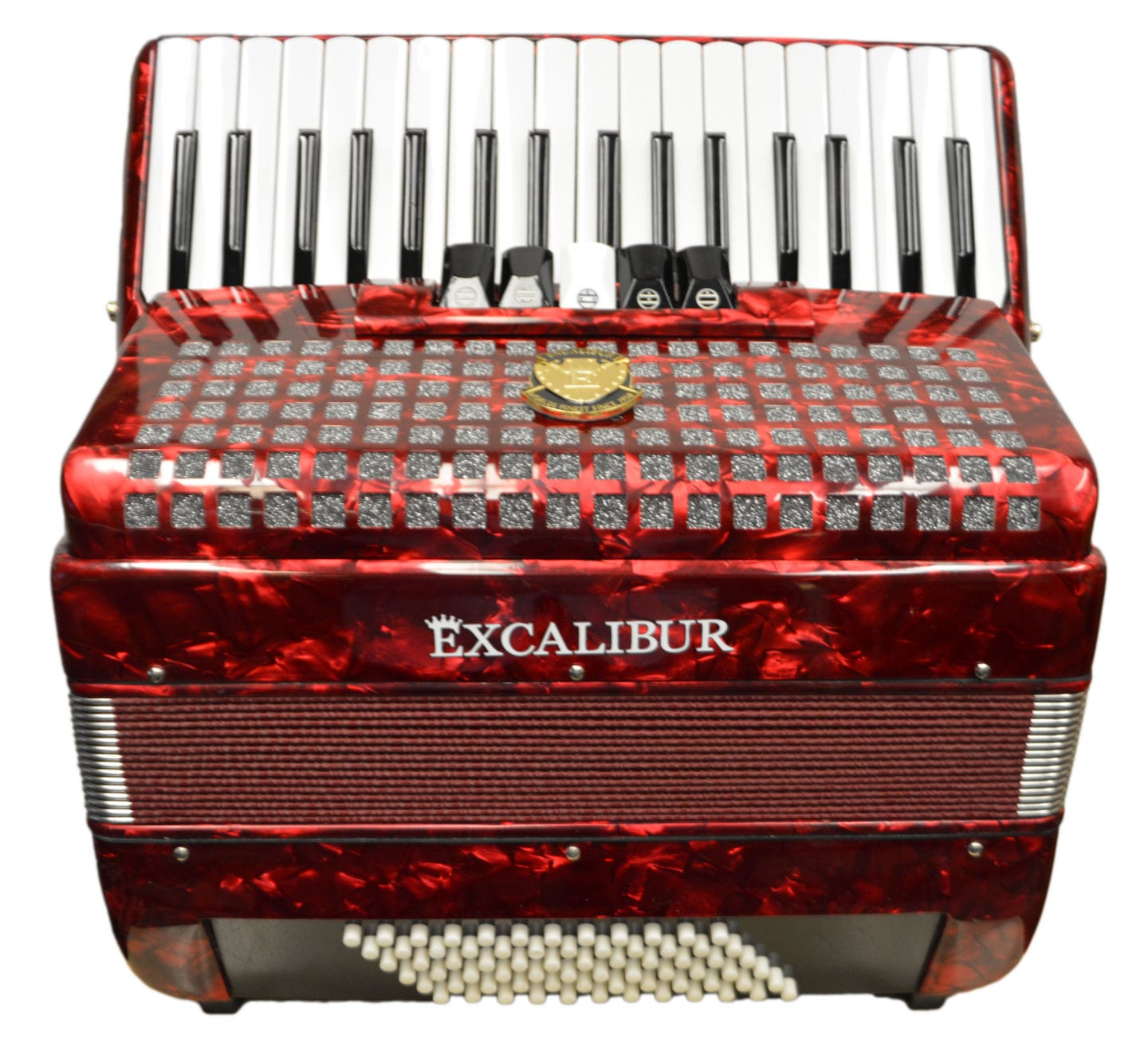 Excalibur Super Classic 72 Bass Accordion - Dark Red