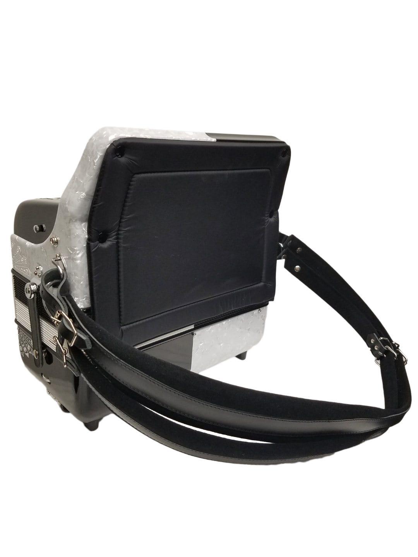 Excalibur Crown Custom 6 Switch Button Accordion - White / Black