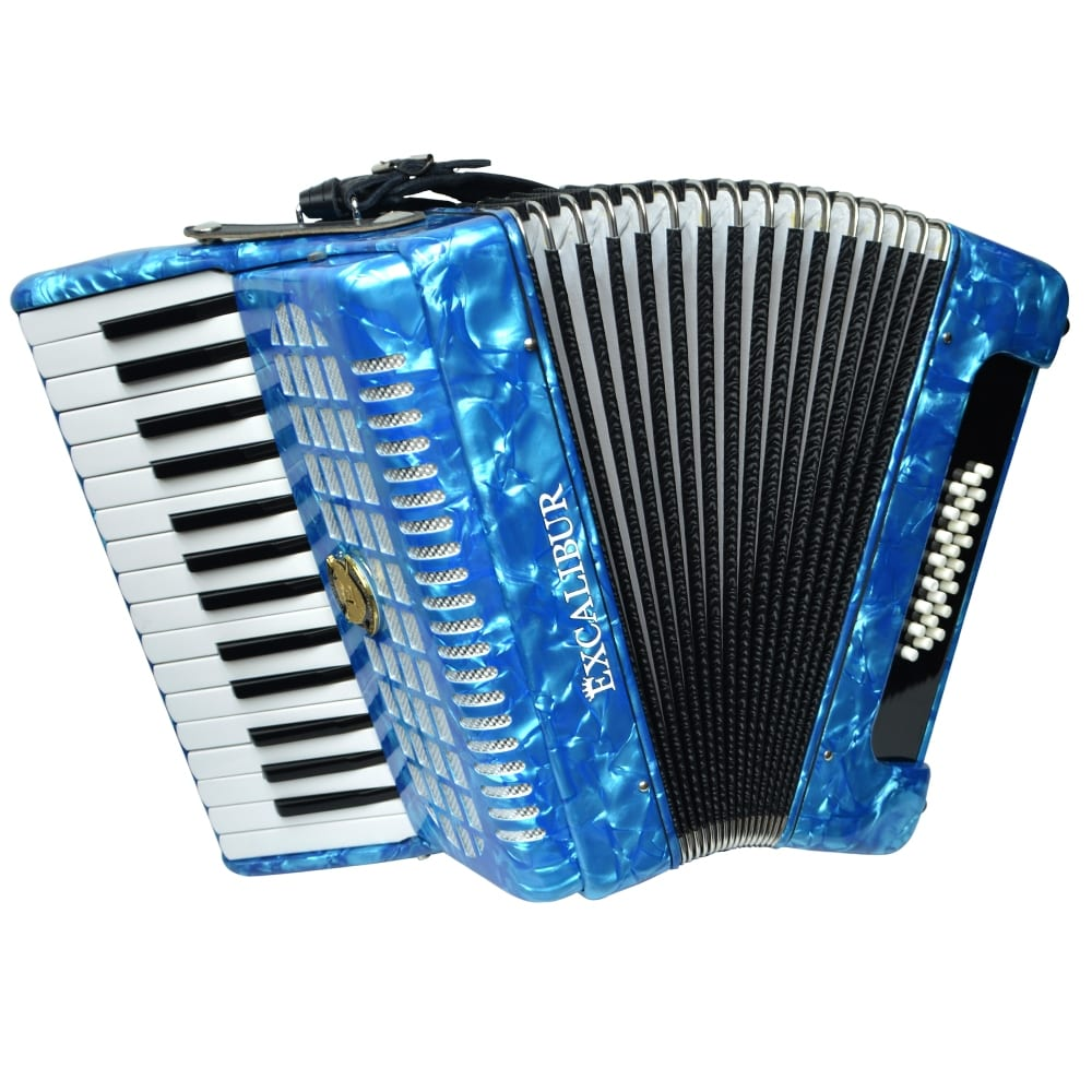 Excalibur Geneva 24 Bass Piano Accordion - Light Blue