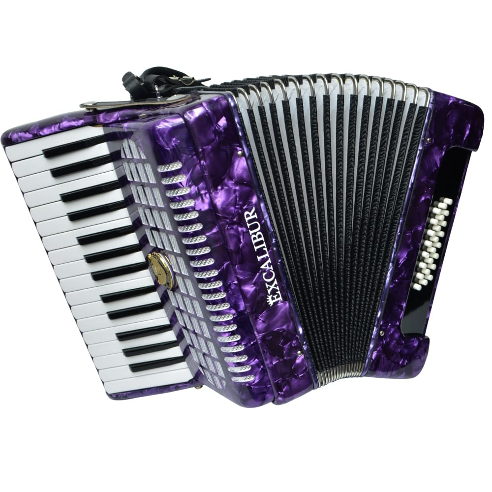 Excalibur Geneva 24 Bass Piano Accordion - Purple