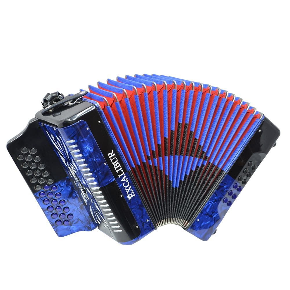 Excalibur Super Classic PSI 3 Row - Button Accordion - Blue/Black -  Key of FBE
