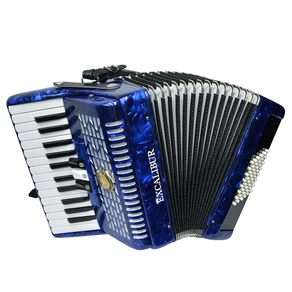 Excalibur Frankfurt 48 Bass Ultralight Accordion - Pearl Dark Blue
