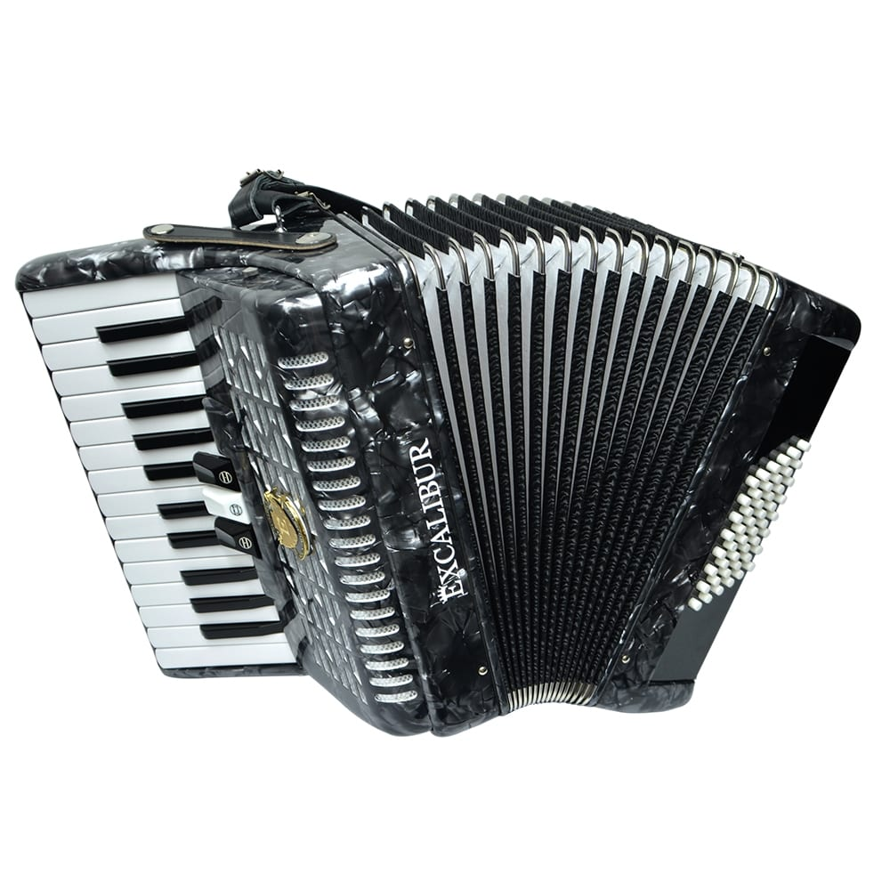 Excalibur Frankfurt 48 Bass Ultralight Accordion - Pearl Grey