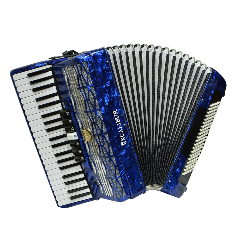 Excalibur Super Classic 120 Bass Accordion - Dark Blue