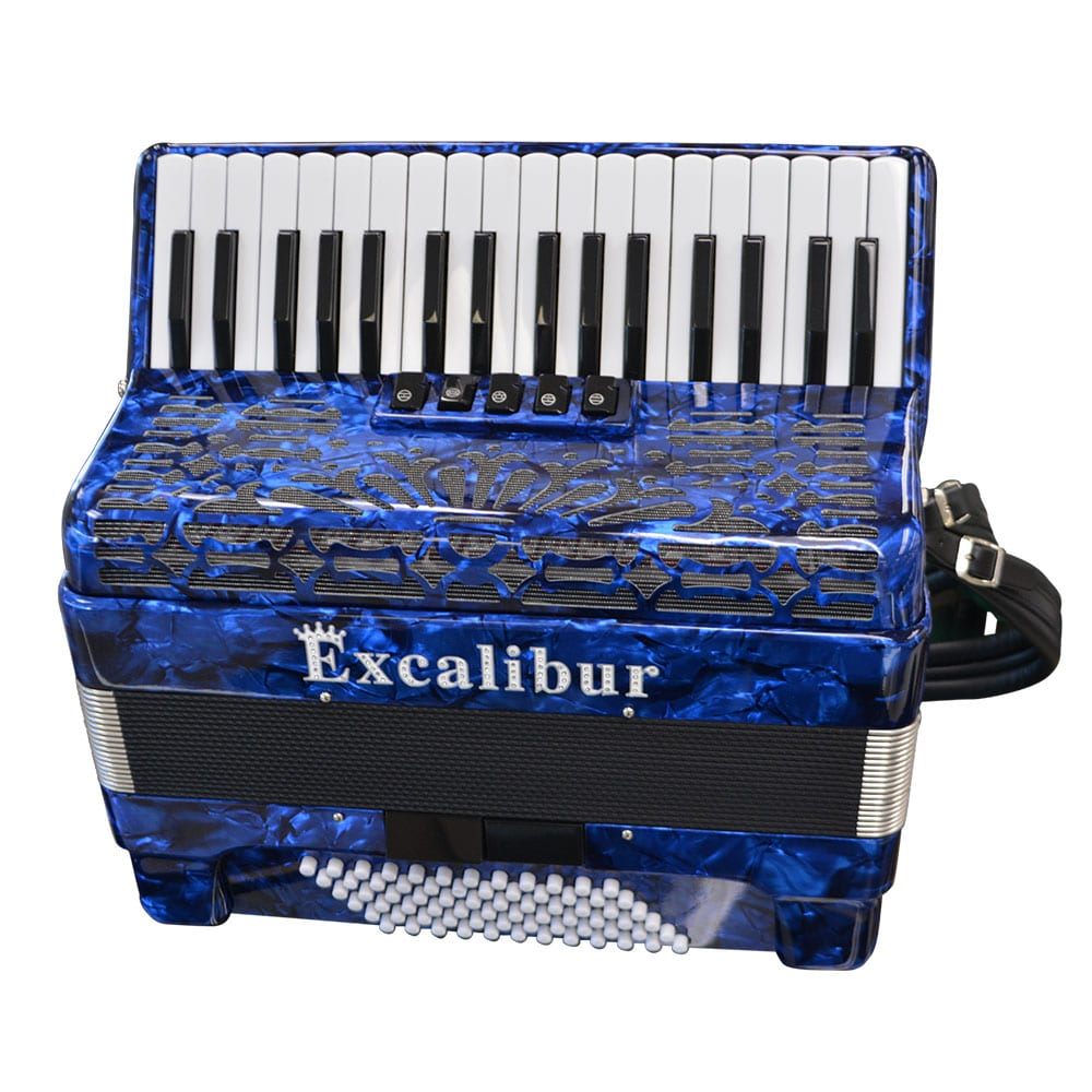 Excalibur Crown Series 72 Bass Accordion - Blue