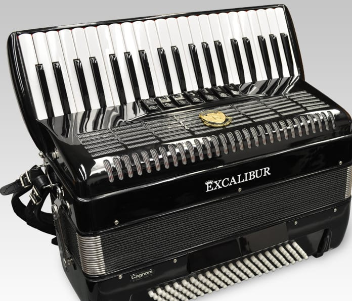 Excalibur German Weltbesten UltraLite 120 Bass Piano Accordion - Black