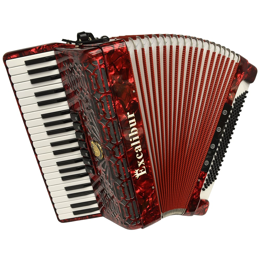 Excalibur Crown Series 120 Bass Accordion - Red
