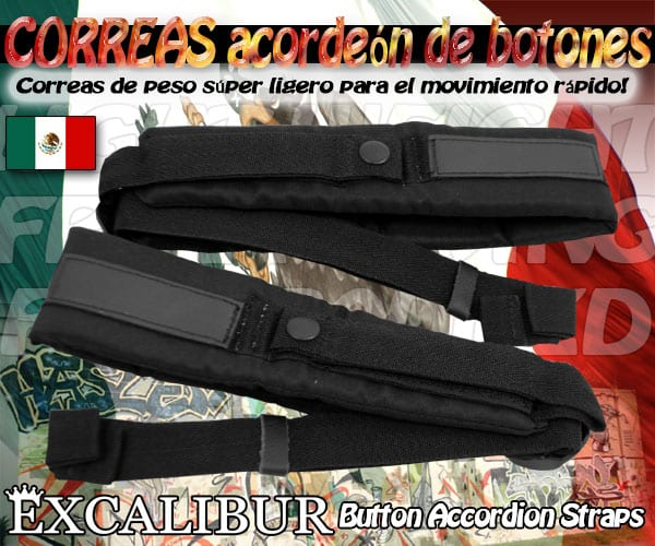 Excalibur Button Accordion Straps