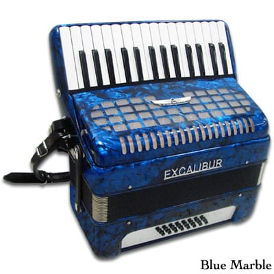 Excalibur Geneva 24 Bass Piano Accordion - Dark Blue
